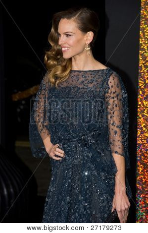 HOLLYWOOD, CA - DECEMBER 5: Actress Hillary Swank arrives at the premiere of
