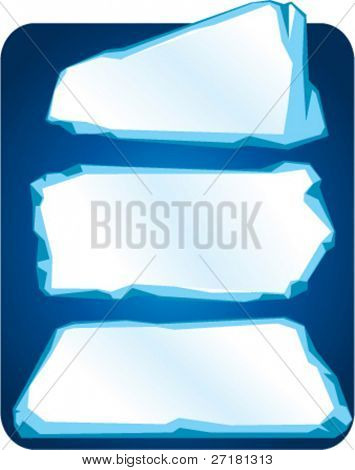 set of vector ice plates