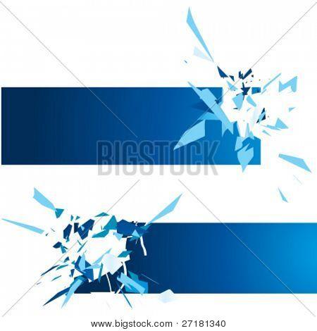 set of vector exploding frames