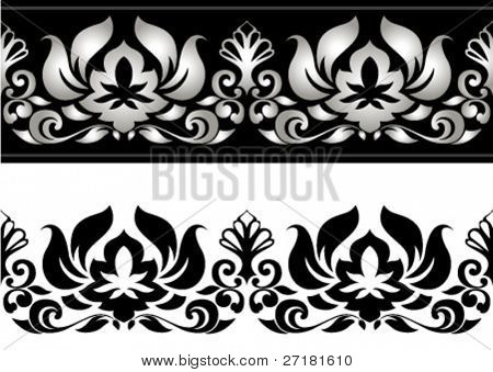 vector illustration of floral border