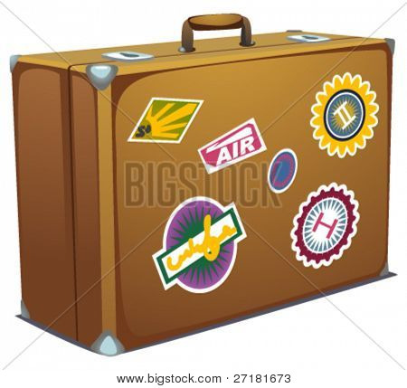 the vector illustration of suitcase