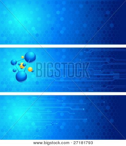 set of vector science backgrounds