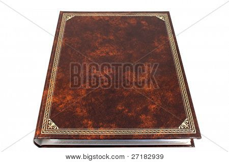 Blank photo album cover isolated on white