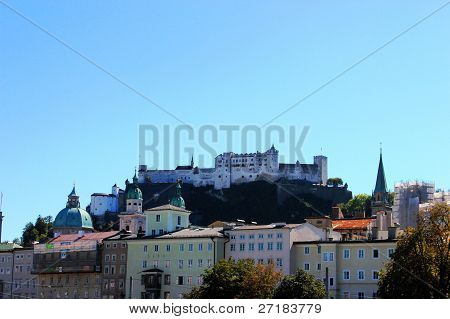 View Of The Castle In Salzburg