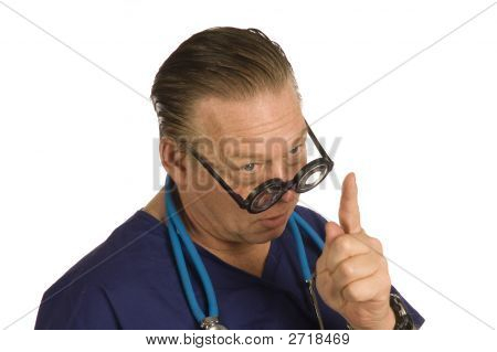 Doctor Admonishing Patient
