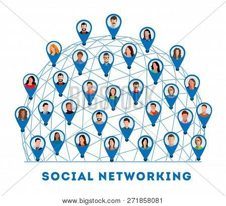 Social Networking Connected People And