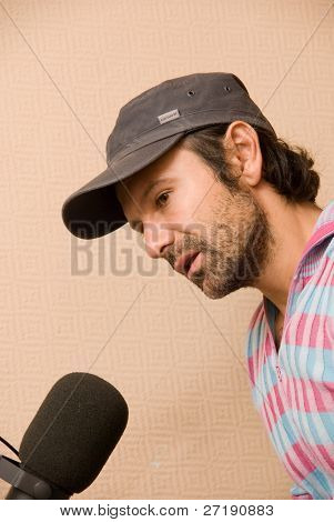 BARNAUL, RUSSIA - SEPTEMBER 27: Svyatoslav Vacarchuk vocal of known ukrainian group