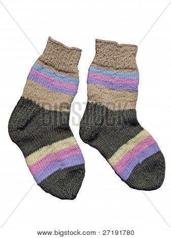 Homemade Woolen Socks
