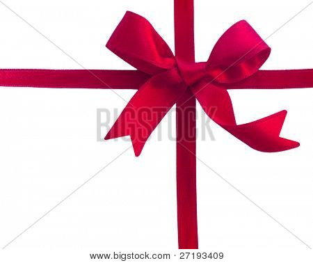 red sateen bow
