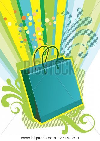 Illustration of shopping bags for