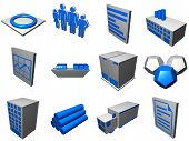 stock photo of supply chain  - Logistic supply chain diagram objects and symbols in a set - JPG