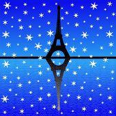 Постер, плакат: Эйфелева башня в зимний период