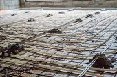 Pipe Fitter Mounted Underfloor Heating. Heating System And Underfloor Heating poster