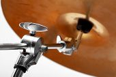 Close-up Of Musical Instrument Cymbals. Musical Instrument poster