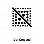 Dot Crossed Icon In Trendy Design Style. Dot Crossed Icon Isolated On White Background. Dot Crossed  poster