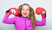Strong Child Boxing. Sport And Health Concept. Boxing Sport For Female. Sport Upbringing. Skill Of S poster