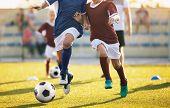 Football Soccer Training For Kids. Children Football Training Session. Kids Running And Kicking Socc poster