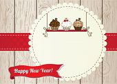 picture of recipe card  - New year cupcake card - JPG