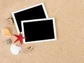 pic of summer beach  - Pictures in a beach concept - JPG