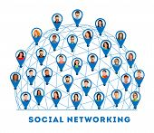Social Networking. Connected People And Social Network. Creative Social Networking People. Social Ne poster