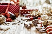 Merry Christmas And Happy New Years Handy Constrcution Tools Background Concept.  Handy House Fix Di poster