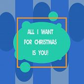 Writing Note Showing All I Want For Christmas Is You. Business Photo Showcasing Holiday Celebrate In poster
