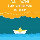 Text Sign Showing All I Want For Christmas Is You. Conceptual Photo Holiday Celebrate In Couple Roan poster