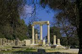 foto of olympic stadium construction  - Ancient Olympia the cradle of the Olympic games in Greece - JPG