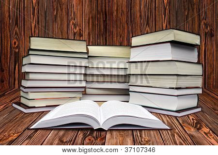 many books on the white