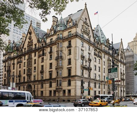 NEW YORK CITY; USA - JUNE 12: The Dakota building; located in the Upper West Side of Manhattan - known as the home of John Lennon and location of his murder. June 12; 2012 in New York City; USA