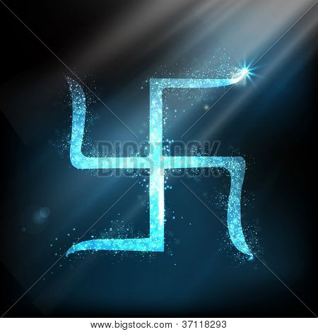 Swastik design for Diwali festival. EPS 10.
