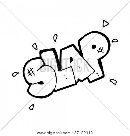 cartoon slap symbol