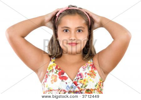Adorable Girl Scared