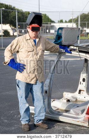 Factory Worker On Break