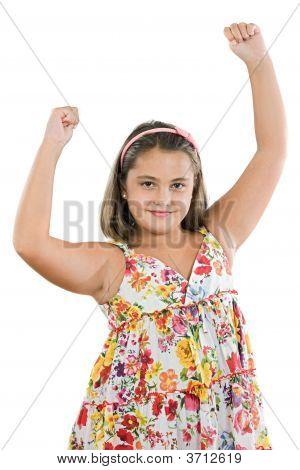 Winner Girl With Flowered Dress