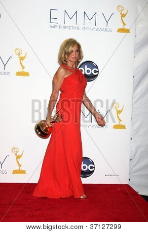 LOS ANGELES - SEP 23:  Jessica Lange in the press room of the 2012 Emmy Awards at Nokia Theater on September 23, 2012 in Los Angeles, CA