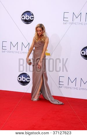 LOS ANGELES - SEP 23:  Joanne Froggatt arrives at the 2012 Emmy Awards at Nokia Theater on September 23, 2012 in Los Angeles, CA