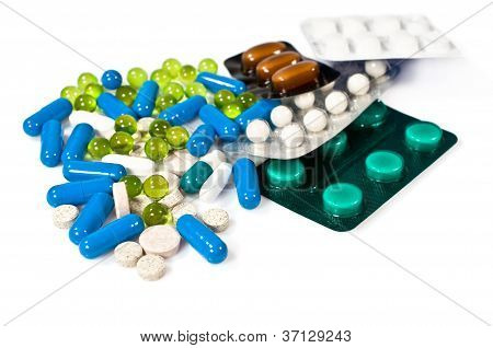 Lot Of Colorful Pills