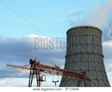 The Bridge Crane And Cooling Tower