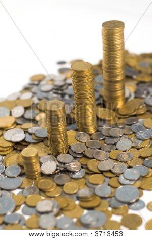 Four Stacks Of Money