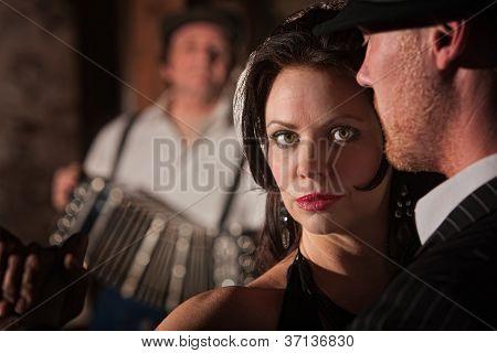 Beautiful Tango Dancer With Partner