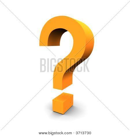 Question Symbol 3D