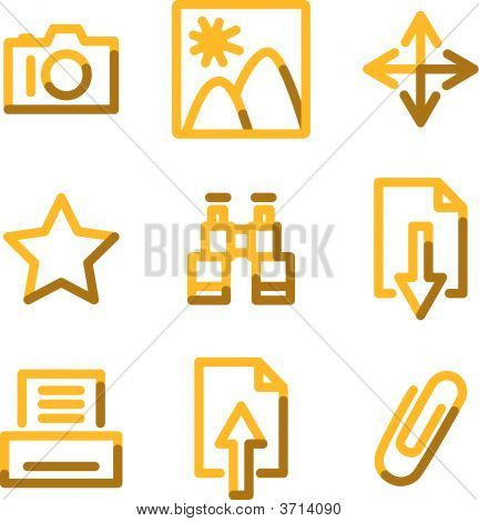 Image Library Icons, Gold Contour Series