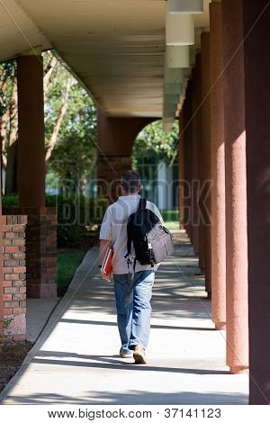 Student Walking To Class