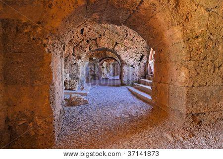 Old Amphitheater In Side Turkey