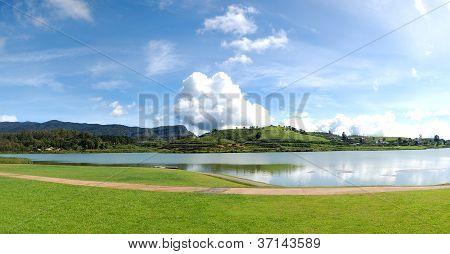 The Panorama Of Lake In Nuwara Eliya, Sri Lanka