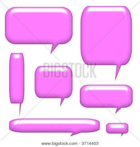 Caption Communication Bubbles