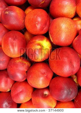 a lot of red nectarines
