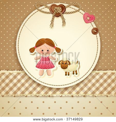 Baby Shower Invitation ( girl) - raster version