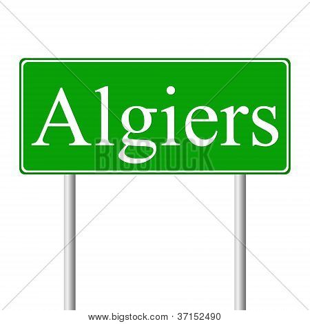 Algiers green road sign